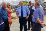 Geoffrey meeting local stakeholders at the slipway
